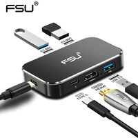 FSU USB HUB 4K 60HZ USB C to HDMI Adapter 100W PD Charging 3USB 3.0 Connector for MacBook Samsung Galaxy S10 Huawei Mate 20 P20