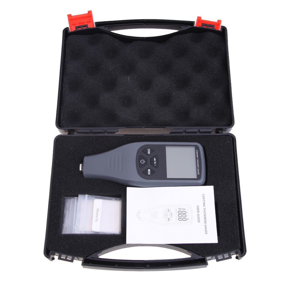 Digital LCD Thickness Gauge Coating Thickness Tester Handheld Paint Film Painting Metal Width Tester Backlight Measuring Tools cm 8000 hexagon wet film comb for coating thickness tester meter 5mil 118mil