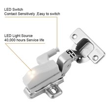 10pcs Universal Under Cabinet Cupboard Hinge LED Light For Modern Kitchen Home Lamp Closet Wardrobe White Color Lights