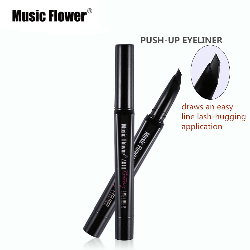 Music Flower Brand New Rotaling Eyeliner Long-lasting Easy to Wear Fast/Quick Dry Natural Eyeliner Pencil Cosmetics