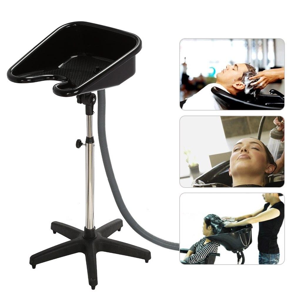 2018 Hair Salon Portable Shampoo Sink Spa Hair Shampoo Bowl Basin Adjustable Height Sink Basin with Drain Beauty Salon Equipment