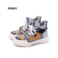 AAdct Autumn mesh new kids shoes running sports Breathable boys shoes sneakers 2018 Brand High cut children shoes for girls