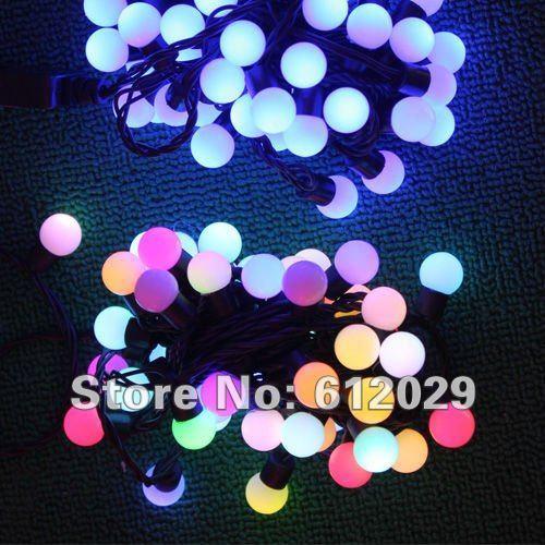 2pc/lot RGB LED white Bulb String Light for Christmas decoration E Packet Free shipping