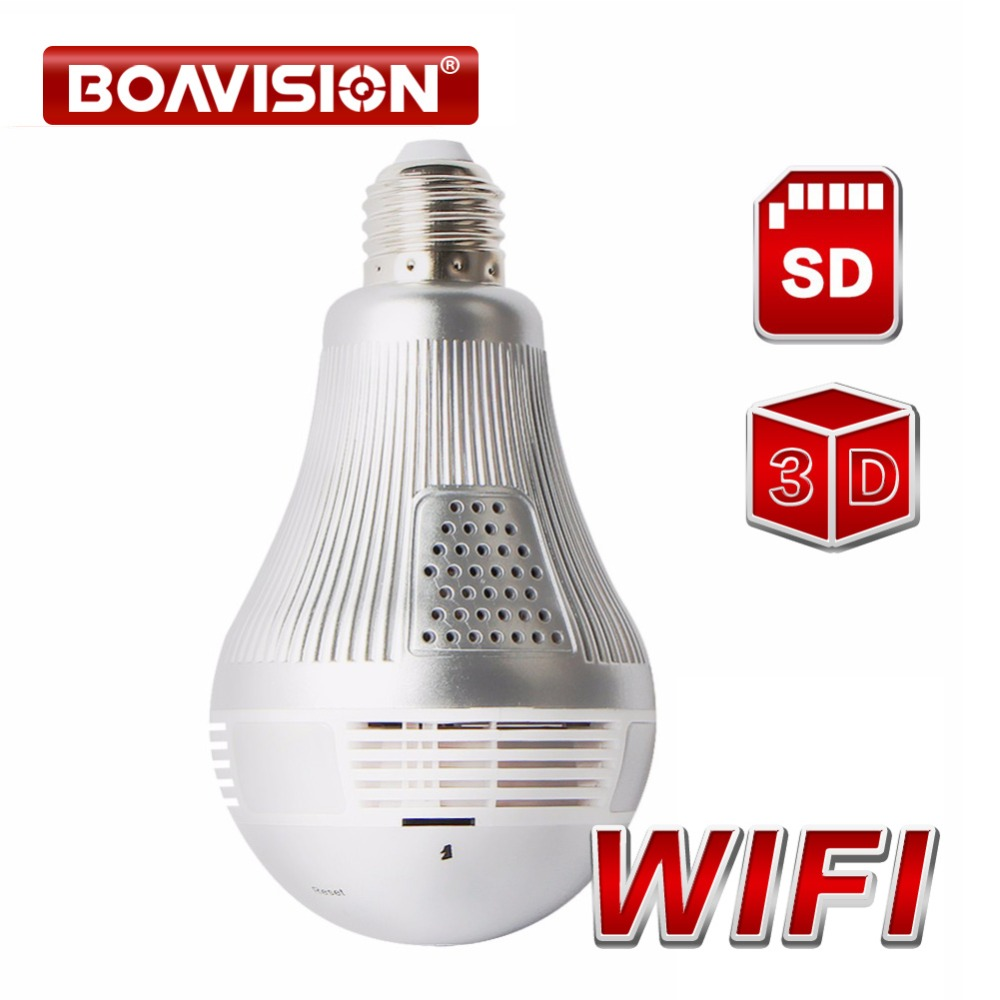 HD 960P 1080P 3MP 5MP Wireless 3D VR Mini Camera WI-FI Bulb Light IP Cam Night Vision CCTV Home Security Surveillance Camera wetrans wireless camera ip wi fi light bulb hd 3mp led security smart cctv camera panoramic wi fi alarm p2p audio night vision