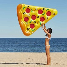 Pizza Inflatable 180cm Swimming Floats Mat Water Donut Pool Toys Inflatable Swim Ring For Fun Adult Swimming Air Mattress Circle 180cm pineapple swimming float air mattress water gigantic donut pool inflatable floats pool toys swimming float adult floats