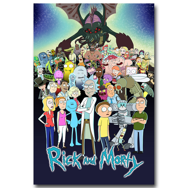 Rick and Morty Art Silk Fabric Posters Prints