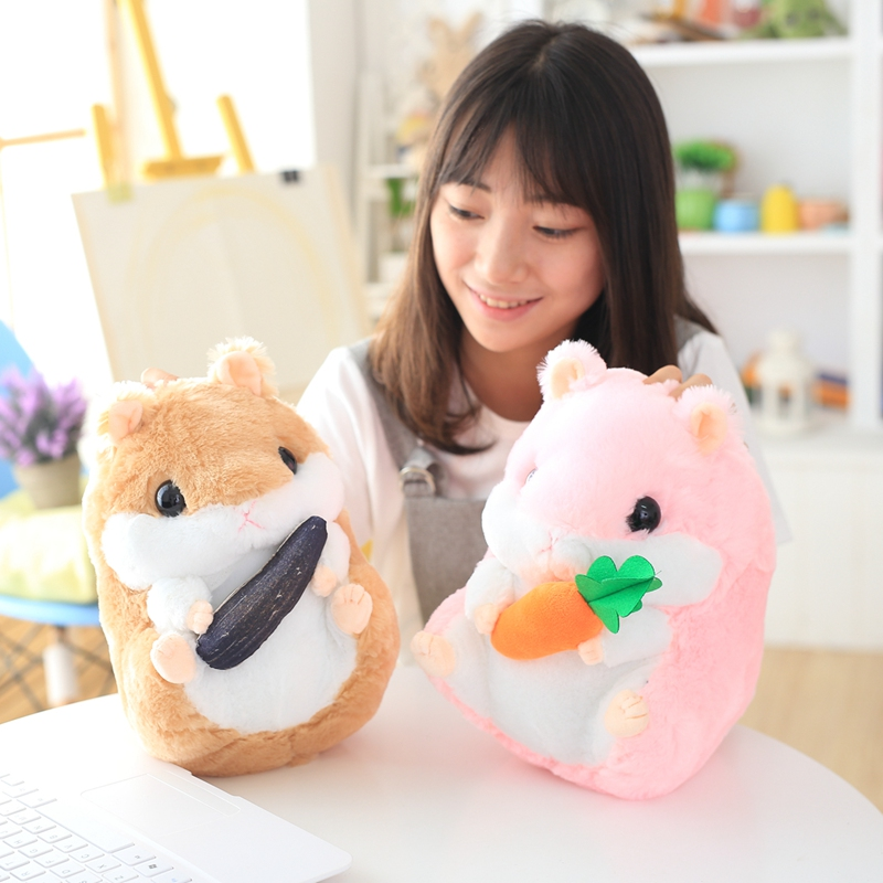 1pc 22cm/32cm Super Cute Hamster Plush Toys Stuffed Animal Hamster Toys Dolls Best Gifts For Kids plush ocean sea turtle toys soft cute pillow super soft stuffed animal turtle dolls best gifts for kids friend baby 18 5