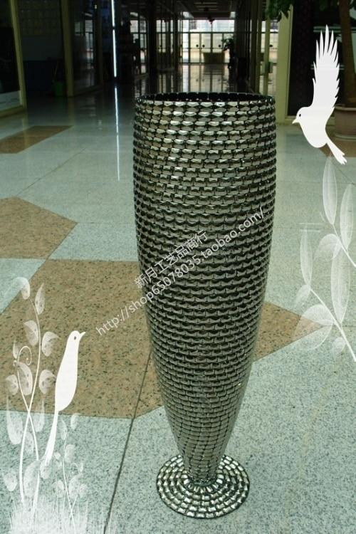 modern fashion flower acrylic diy mosaic vase large floor vase wedding supplies in vases from. Black Bedroom Furniture Sets. Home Design Ideas