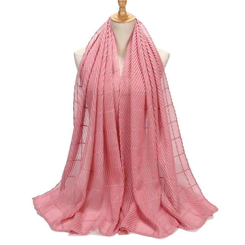 New Women Wrinkle   Scarf   Fashion Head Scarve and Shawls Plain Maxi Cotton Shawls Plain   Wrap   Muslim Muffler hijab