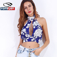 TOTRUST Floral Print Tank Top Women 2017 Summer Sexy Tank Top Camis Vest Crop Top Fitness