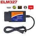 OBDII Сканер ELM327 USB Пластиковые OBD2 Автоматический Диагностический Инструмент Версия V1.5 CAN-BUS ELM 327 USB Интерфейс для OBDII EOBD Автомобилей