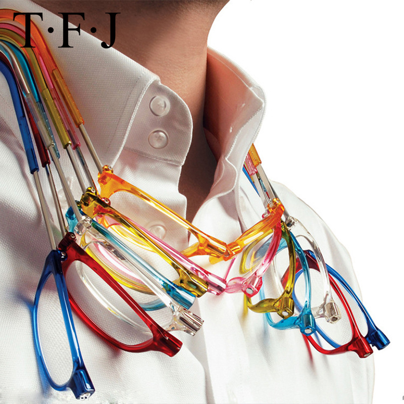 Unisex Magneet Dioptriebril Slanke Magnetische Leesbrillen Brillen Opvouwbare Mannen Vrouwen Verstelbare Opknoping Neck presbyope