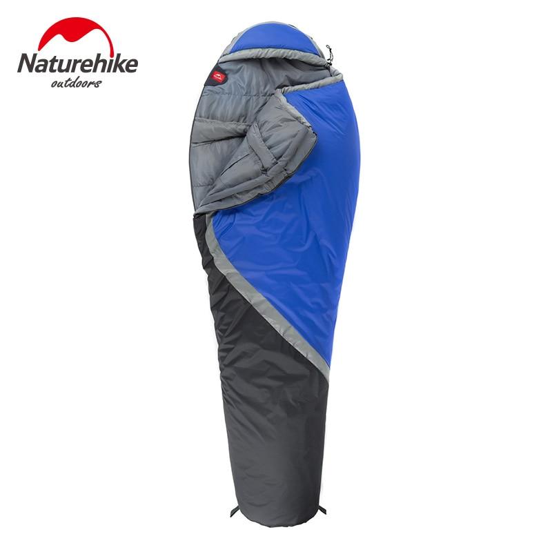 Naturehike Camping Mummy Shape Sleeping Bag Fleece Splicing Single Sleeping Bag for Winter Hiking Climbing Mountaineering