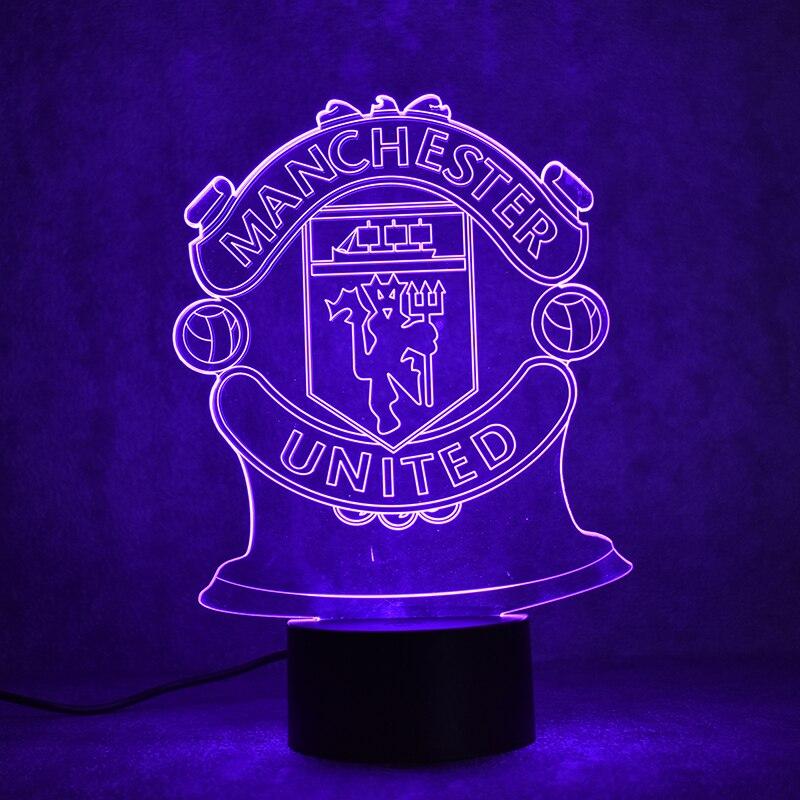Creative 3D LED Nachtlampje USB Futbol Tafellamp Thuis Decor Voetbal ...
