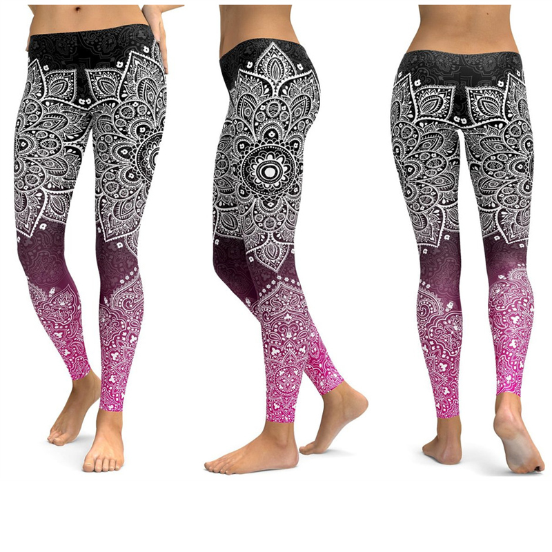 Print Yoga Pants Women Unique Fitness Leggings Workout Sports Running Leggings Sexy Push Up Gym Wear Elastic Slim Pants 5