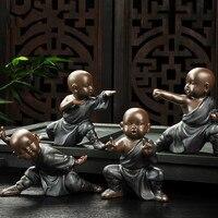 Kung Fu Tea Accessories Small Ornaments Boutique Yixing Pottery Sand Monk Tea Pet Purple Home Decoration