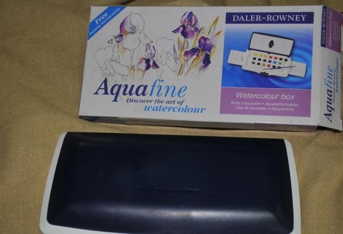 Livraison gratuite Aquafine collège niveau solide aquarelle pigment en boîte art fournitures 20 couleur