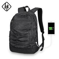 HKBackpack usb ladekabel Men Mochila Camouflage Black large capacity Bag masccline 15.6 zoll Laptop bags 17.3inch Game Bookbag