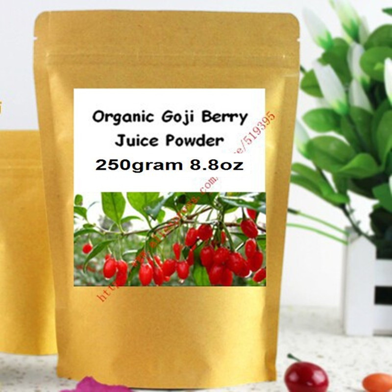 250gram Organic Goji Berry Juice Powder for Immunity Enhancement free shipping китайский чай ningxia goji berry fruit health beauty 250g f170