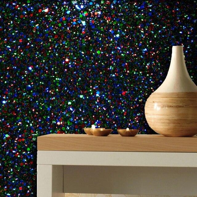 """גליל אחד 5 m 138 ס""""מ רוחב גליל נייר טפט קיר 3D שמנמן גליטר חינם חדר מיטת סלון טפט חינם"""