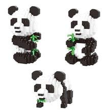 Balody Cartoon Panda Animal 3-in-1 Bamboo 3D Model DIY Diamond building blocks educational assembly cartoon bricks 18087