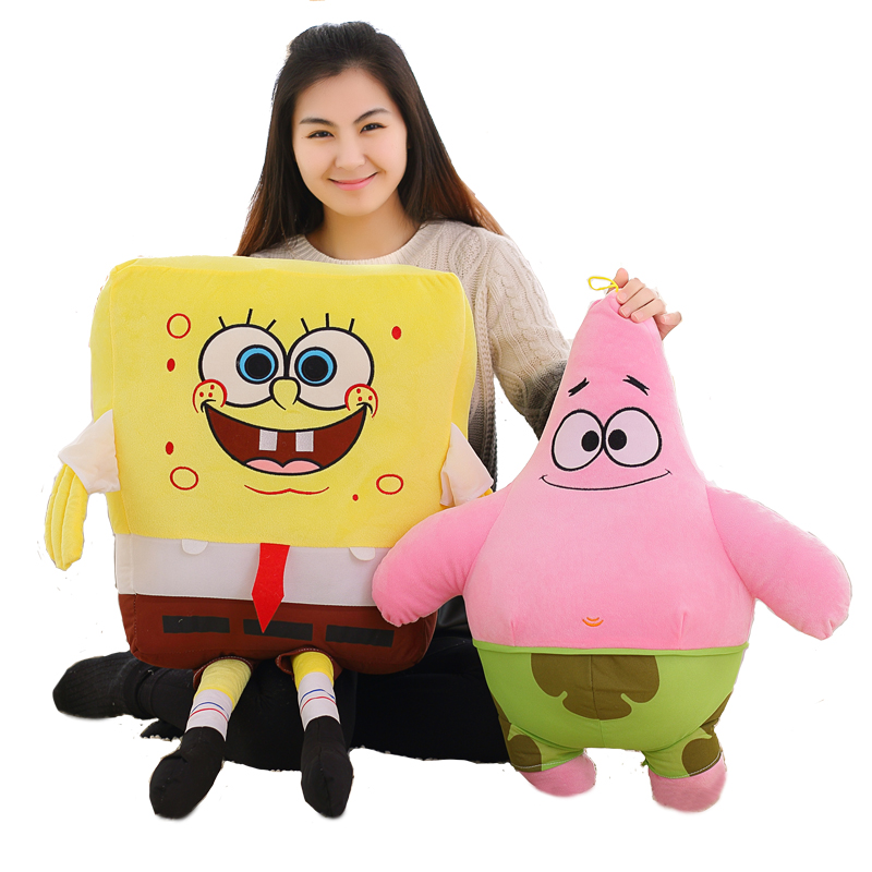 1pc 40cm/50cm/60cm Cartoon Spongebob Patrick Star Plush Animals Toys Plush Spongebob Pillow Sofa Cushion Birthday Gifts Kids Toy