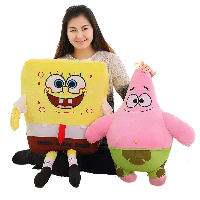 1 stück 40 cm/50 cm/60 cm Cartoon Spongebob Patrick Star Plüsch Tiere Spielzeug Plüsch Spongebob Kissen sofa Kissen Geburtstag Geschenke Kinder Spielzeug