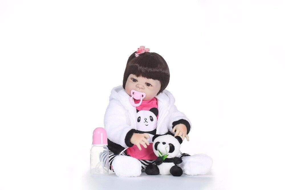 56 CENTIMETRI NPK boneca in silicone reborn completa Pieno di Silicone Vinile Reborn Baby Doll Giocattoli Realistici Bambino di Compleanno Regalo di Natale da bagno giocattolo-in Bambole da Giocattoli e hobby su  Gruppo 3