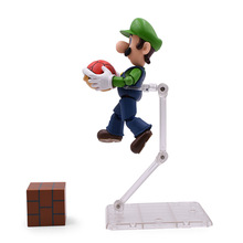 Anime SHF SHFiguarts Super Mario Bros Luigi PVC Action Figure Doll Collectible Model Baby Toy Christmas Gift For Kids shf shfiguarts star wars darth vader pvc action figure collectible model toy