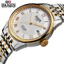 HAIQIN 2017 New Luxury Brand Mechanical watch Casual Watches Waterproof Sapphire Mirror business Automatic Watch Clock Men