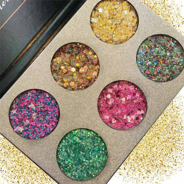 481 22 De Réduction6 Couleurs Arc En Ciel Grand Paillettes Diamant Fard à Paupières Palette Paillettes Injections Miroitant Mat Maquillage