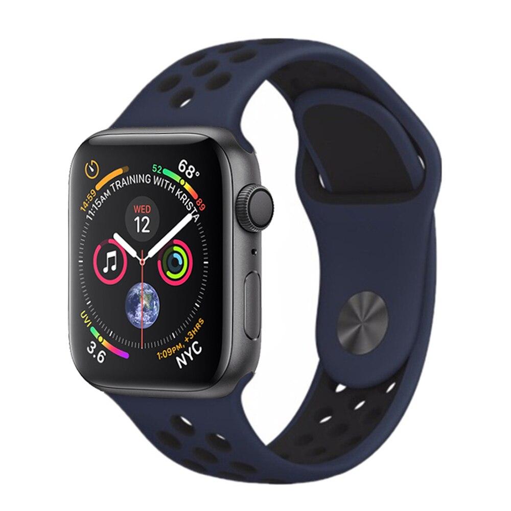 bfb827a2026 Silicone faixa de relógio cinta para apple 4 42mm 44mm banda iwatch ...