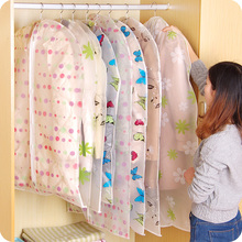 3PCS/Lot Clothes Dust Cover 2016 New Arrival Dustproof Flat Type Wardrobe Clothing Hanging Storage Bags