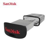 SanDisk Ultra Fit CZ43 128 GB USB 3.0 Flash Drive de Hasta 130 MB/S leer 64 GB mini Pen Drive de alta Velocidad USB 3.0 USB Stick 32 GB 16 GB