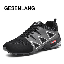 2019 Men Air Cushion Sneakers Trail Running Shoes Big Size Light Breathable Male Sneakers Outdoor Trekking Tourism Walking Shoes men professional outdoor walking shoes male waterproof breathable walking boots dockers trekking traveling shoes mens sneakers