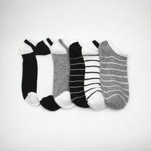 6pairs/lot Cotton Mens Socks Short Stripe Ankle Invisible Male Soft Breathable Casual Sport Men Women