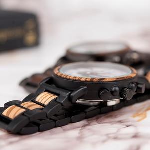 Image 5 - レロジオmasculinoボボ鳥腕時計メンズ高級スタイリッシュな時計時計クロノグラフ軍事クォーツ男性のギフト