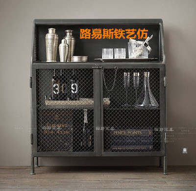 french industrial furniture. french industrial furniture old loft nostalgic locker shelves showcase wine trade furniturein sideboards from on aliexpresscom i