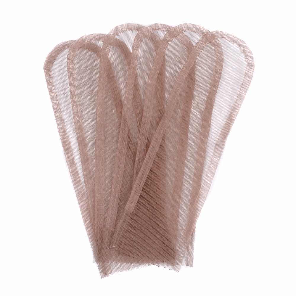 2*4 2*6 4*4 İsviçre dantel kapatma Frontal taban el dokuması saç Net parça yapmak için dantel peruk kap kapatma peruk aksesuar