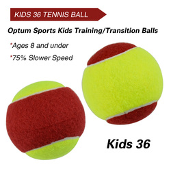 12 pces iniciante criança ou treinamento adulto (transição) prática bolas de tênis (25%-75% velocidade bola mais lenta)