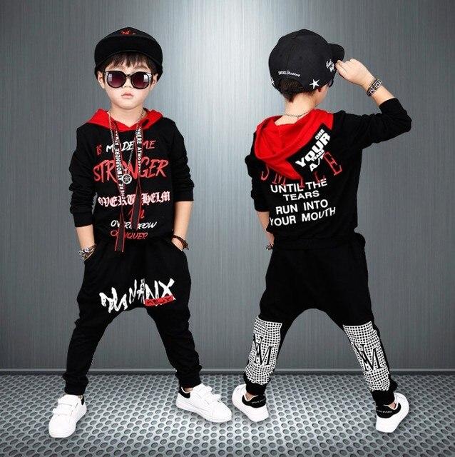 Ragazzi Hip-Hop Abbigliamento Set 2018 Primavera Autunno dei bambini di  Usura Dei Bambini del c578ce280b1