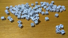 Free shipping 20pcs 6-sided dice 6mm small white with black pips dice for boardgame/cardgame and other games accessories