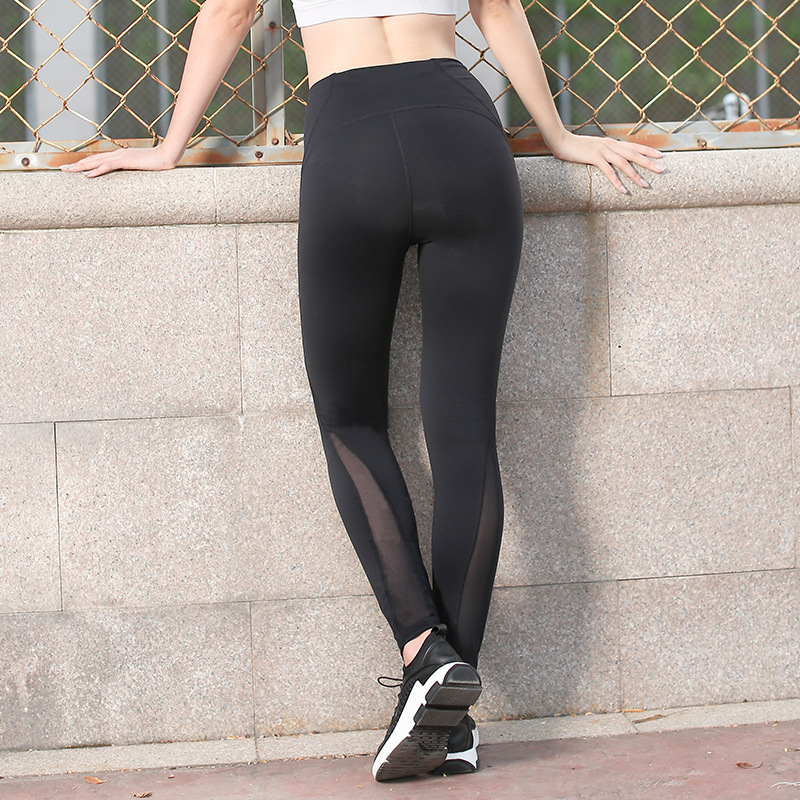 2018 NWT Eshtanga Sports tight Top Quality Women Yoga Net Yarn crop Skinny Stretch capris Size XS-XL Free Shipping 6 colors fashionable sleeveless cut out solid color skinny crop top for women