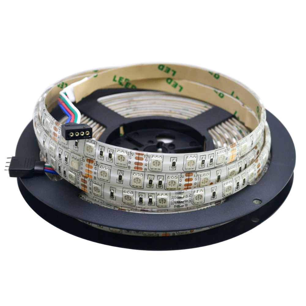 Darmowa wysyłka 5 M IP65 wodoodporna 5050 300leds SMD taśmy RGB + - Oświetlenie LED - Zdjęcie 5