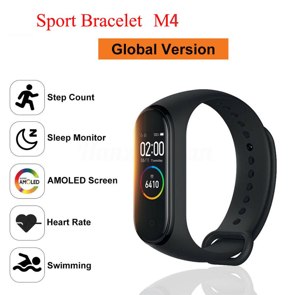 M4 Smart Sport Bracelet Watch Heart Rate Monitor Fitness Tracker Swimming Waterproof Wristband for MI Brand image