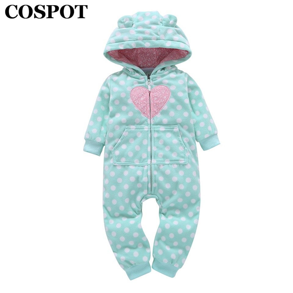 COSPOT 2019 New Baby Girls Boys Hooded Fleece Jumpsuit Baby Girls Clothes Newborn   Romper   Baby Clothes Girls Clothes Overalls 22E