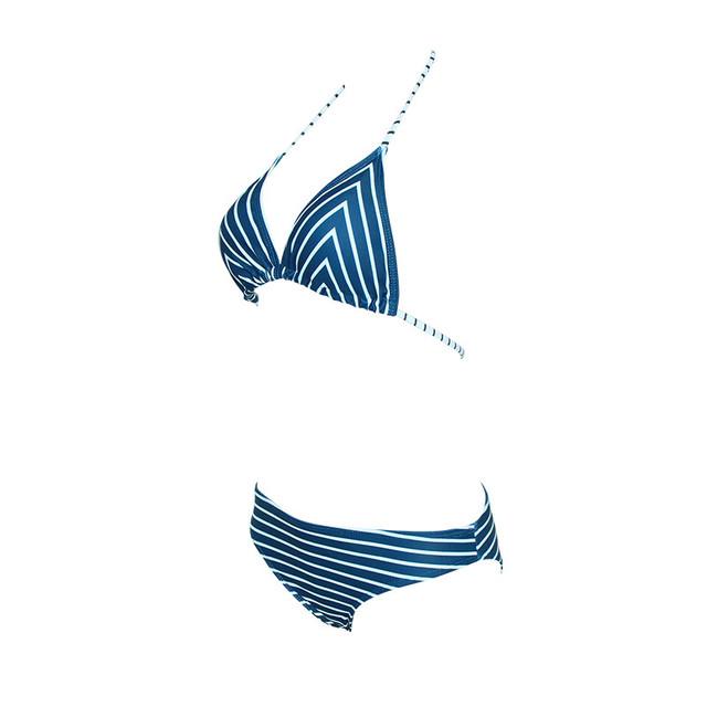 Sexy bikini kobiety w paski bandaż Biquini strój kąpielowy Plus Size kobiet brazylijski Push Up 2019 stroje kąpielowe strój kąpielowy na plaży 18Dec10 tanie i dobre opinie ARLONEET Poliester Tankini zestaw 2018 2019 New Sexy Women Swimwear Swimsuit Clothes Natural color Macierzyństwo Women Ladies Girls Clothings