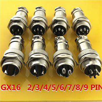 1 zestaw GX16 2 3 4 5 6 7 8 9 Pin mężczyzna i kobieta 16mm drutu Panel okrągłe złącze pokrywka L70-78 złącze lotnicze gniazdo wtykowe tanie i dobre opinie Pixiuonline