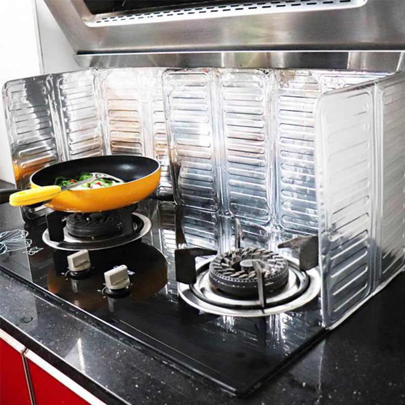 الألومنيوم احباط النفط واقية مجلس العزل طوي موقد غاز النفط رش شاشة يربك سهلة لتنظيف المضادة للنفط لوحة المطبخ أداة