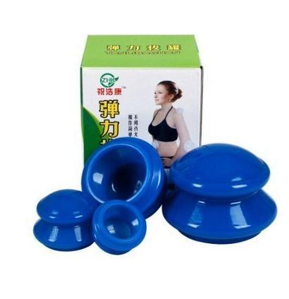 4 unids 1 Unidades hijama cuidado de La Salud pequeño cuerpo anti celulitis masaje con ventosas copas de vacío de goma chino saludable terapia de masajes
